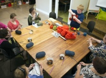 10-year-old boy teaches adults to knit | the knitting space