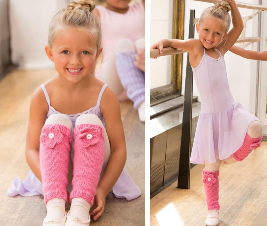 Free Pattern Knit Ballerina Bloom Leg Warmers