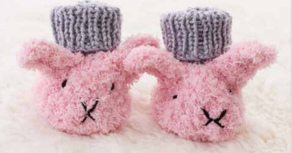 Knit Baby Bunny Booties [FREE Knitting Pattern]