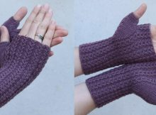 Asta knitted fingerless mitts   the knitting space