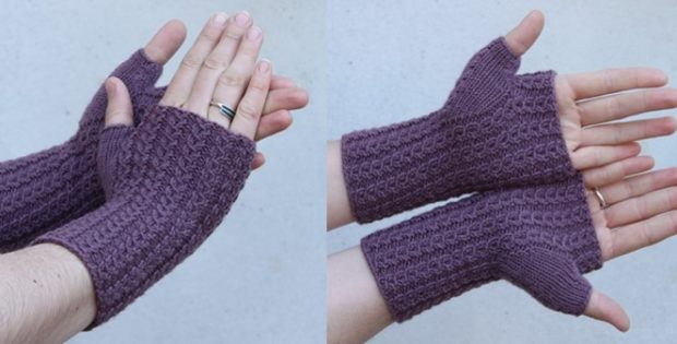 Asta knitted fingerless mitts | the knitting space