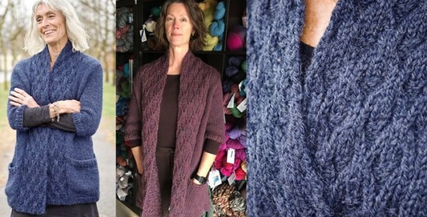 stylish Astor knitted cardigan | the knitting space