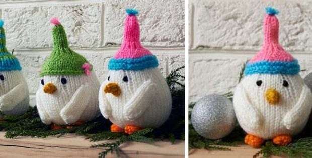 cute breezy bird knitted trio | the knitting space