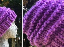 bulky ridge knitted beanie   the knitting space