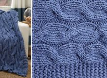casual cables knitted throw | the knitting space
