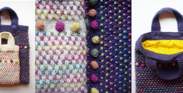 colorful dotty knitted bag | the knitting space