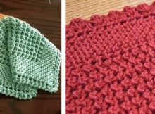 diagonally knitted dishcloth | the knitting space