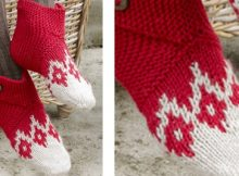 Fun ruby toes knitted nordic slippers | The Knitting Space