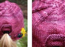 Whimsical urban homesteader knitted hat | The Knitting Space