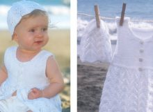 Beach baby knitted dress | The Knitting Space