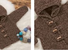 Cozy knitted baby hooded cardigan | The Knitting Space
