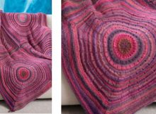 squared shades knitted throw | The Knitting Space |