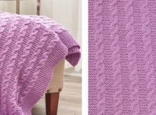 Exquisite cable knitted throw   The Knitting Space
