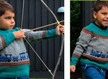 Futfut knitted train sweater | The Knitting Space