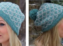 Rosmarin knitted colorwork beanie | The Knitting Space
