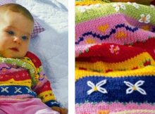 Fun colorful knitted baby sweater | The Knitting Space