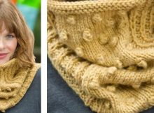 bobbled knitted cowl | The Knitting Space