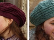 Liatris knitted beret-style hat | The Knitting Space