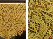 Golden orchids knitted lace shawl | The Knitting Space