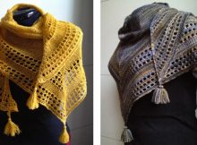 Light knitted eyelet shawl | The Knitting Space