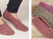 Side step knitted garter slippers | The Knitting Space