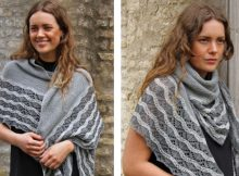 Falochron knitted lace shawl | The Knitting Space