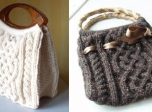 stylish viking knitted cabled bag | The Knitting Space