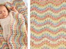 Rocking waves knitted baby blanket | The Knitting Space