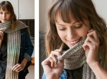 Fun slipped rib knitted scarf | The Knitting Space