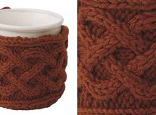 Stylish knitted cabled mug cozy   The Knitting Space