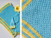 Everyday moss stitch knitted baby blanket | The Knitting Space