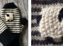 Valais blacknose knitted mittens | The Knitting Space
