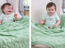 Lace chevrons knitted baby blanket | The Knitting Space