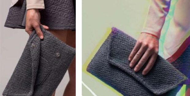 Stylish knitted clutch | The Knitting Space