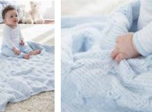 Little butterfly knitted baby blanket | The Knitting Space