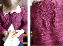 Kindling knitted toddler's cardigan | The Knitting Space
