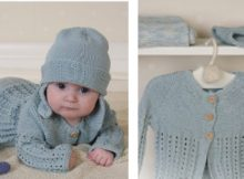 Delightful knitted baby layette set | The Knitting Space