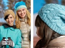Knitted Cabled Pompom Hat   The Knitting Space  