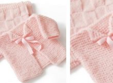 Glamour baby's first knitted cardigan | The Knitting Space