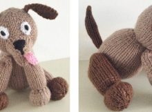Super cute knitted dog soft toy | The Knitting Space
