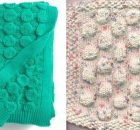 bubble wrap knitted stitch | The Knitting Space