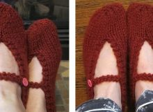 Great knitted mary jane slippers | The Knitting Space