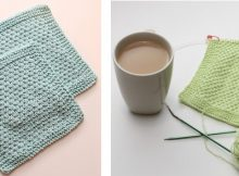 Sploshy knitted textured washcloth | The Knitting Space
