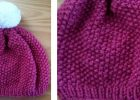 Beautiful knitted seed stitch hat | The Knitting Space