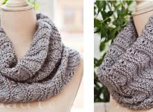 Rippled ridges knitted cowl | The Knitting Space