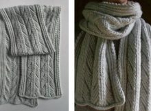 Ancient knitted stitch scarf | The Knitting Space