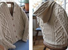 Whitney double-x knitted hooded cardigan | The Knitting Space