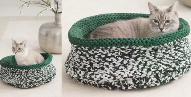 knitted cat bed   the knitting space