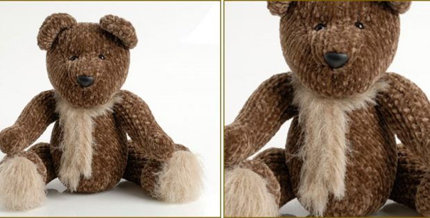 cuddly knitted teddy bear   the knitting space