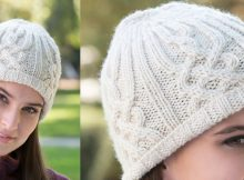 lattice look knitted beanie   the knitting space